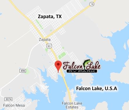 Map Of Zapata Texas.Falcon Lake Rv Park Located Right On Falcon Lake In Zapata Texas